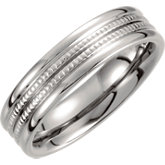 Titanium 6mm Grooved Band