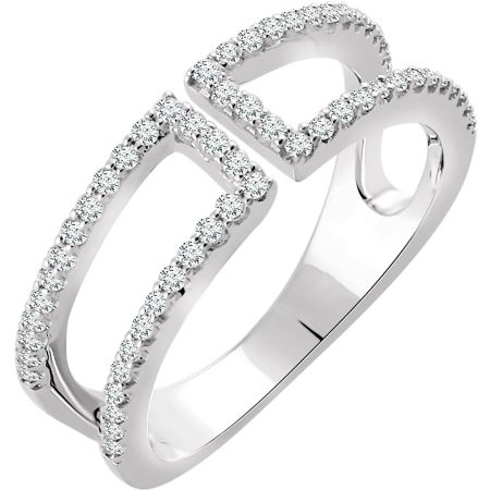 14K White 1/3 CTW Diamond Ring