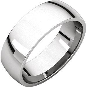 Platinum 6.5 mm Lightweight Comfort-Fit Band