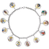 Enameled Saints Medal Bracelet