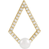 Freshwater Cultured Pearl Geometric Necklace or Pendant
