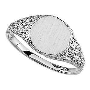 Fashion Rings , Platinum Signet Ring