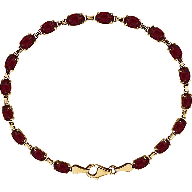 14K Yellow Mozambique Garnet 7.25