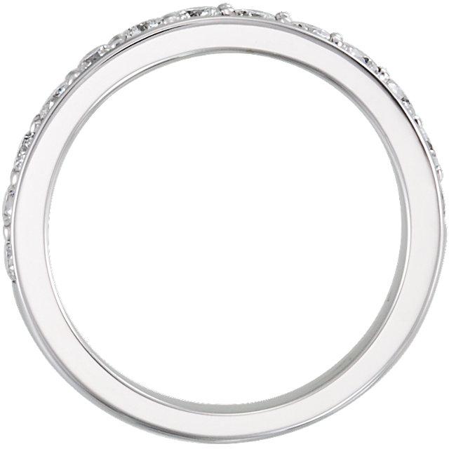 14K White 3/4 CTW Diamond Band