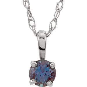 Necklace / Chain , Youth 4-Prong Solitaire Necklace or Pendant