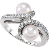 Accented Bypass Ring Mounting for Pearls