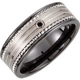Tungsten & Ceramic Couture® Inlay Band