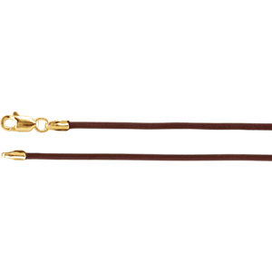 Necklace / Chain , 1.5mm Brown Leather Cord