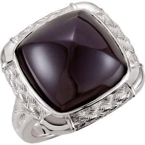 Onyx Weave Design Ring