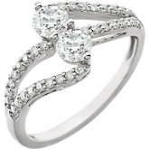 Two-Stone Accented Engagement Ring or Band