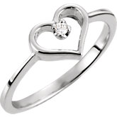 Youth Heart Ring Mounting