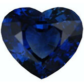 Heart Genuine Blue Sapphire (Black Box)