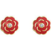 Youth Enamel Flower Earrings