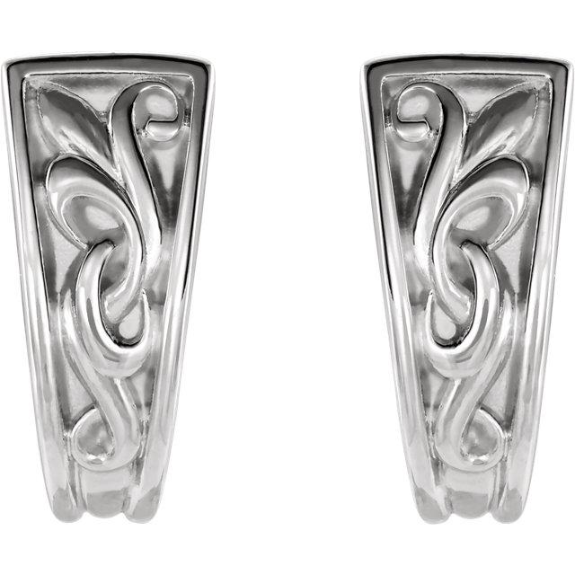 Sterling Silver Vintage-Inspired J-Hoop Earrings