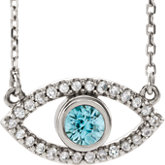 Accented Evil Eye Necklace or Center