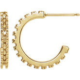French-Set J-Hoop Earrings