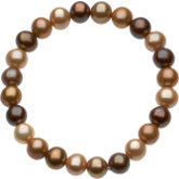 Freshwater Cultured Dyed Chocolate Pearl Stretch Bracelet