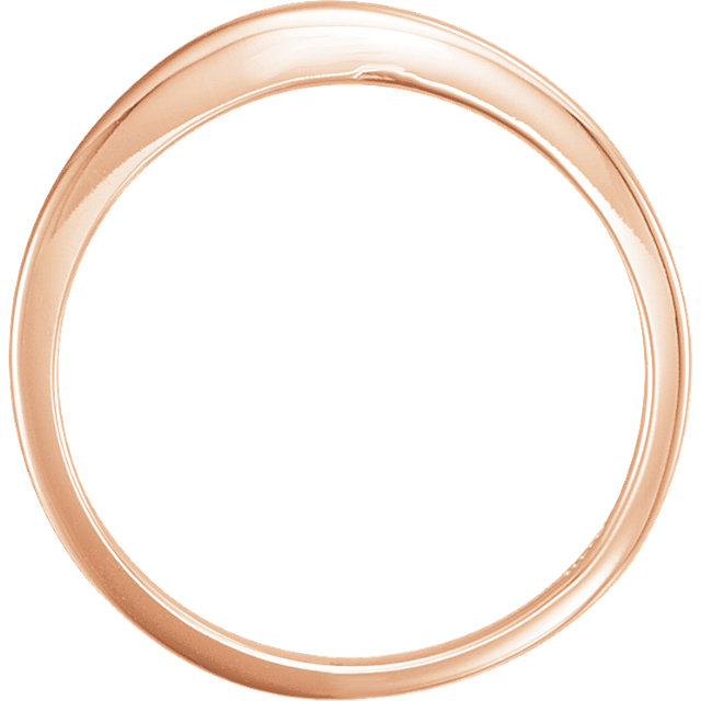 14K Rose #13 Band with Two-Notches