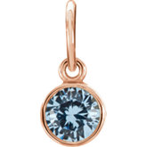 Posh Mommy® Imitation Birthstone Charm