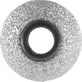 Kera® Sterling Silver Stardust Finish Smart Bead 8mm