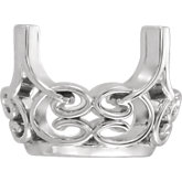 Oval 4-Prong Lace-Style Setting