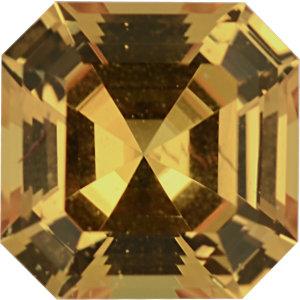 Sapphire Asscher 0.72 carat Yellow Photo