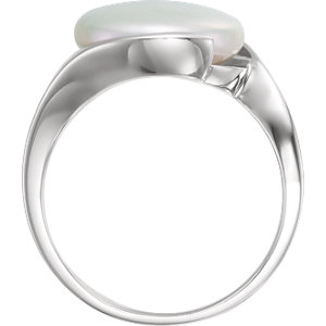 Solitaire Ring for Coin Pearl