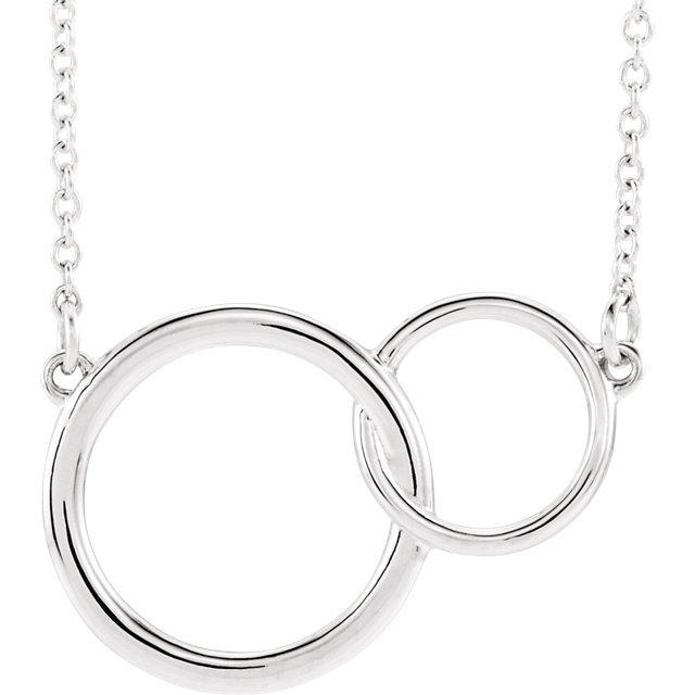 Sterling Silver Interlocking Circle Necklace