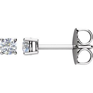 Earrings , 14K Yellow 1/10 CTW Diamond Earrings