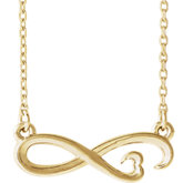 Infinity-Inspired Heart Necklace or Center