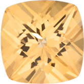 Antique Square Genuine Honey Topaz