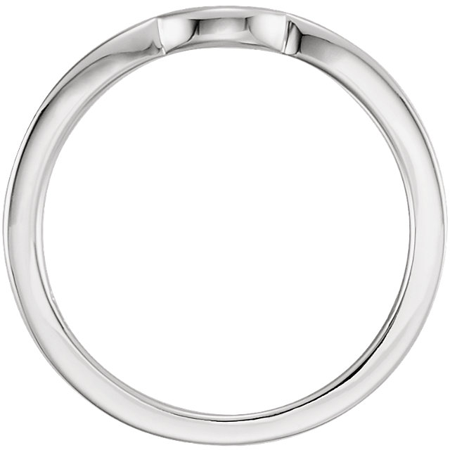 14K White Diamond Band