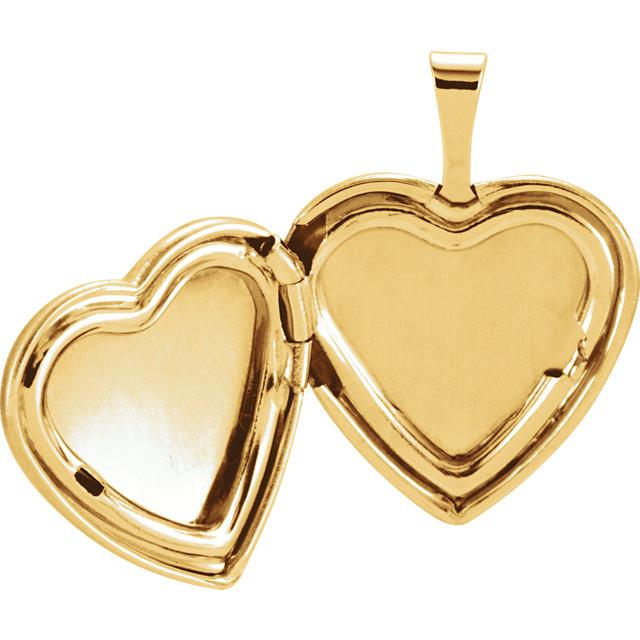 Gold Plated & Sterling Silver Heart Cross Locket
