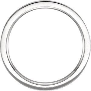 14K White 2mm Flat Comfort Fit Milgrain Band Size 6