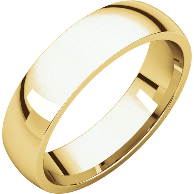 14K Yellow 5 mm Lightweight Comfort-Fit Band