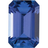 Emerald/Octagon Genuine Tanzanite