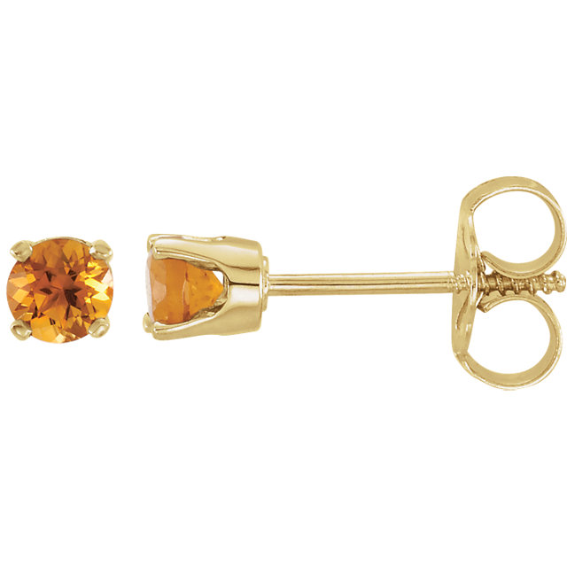 14K Yellow Genuine Citrine Earrings