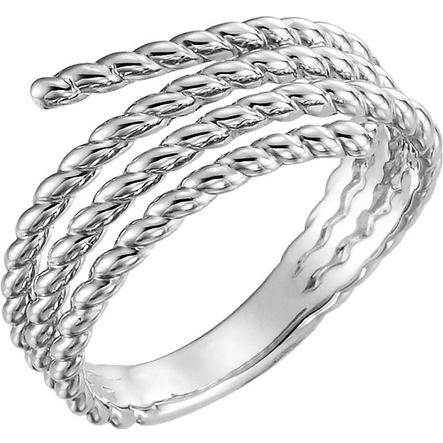 Sterling Silver Rope Ring