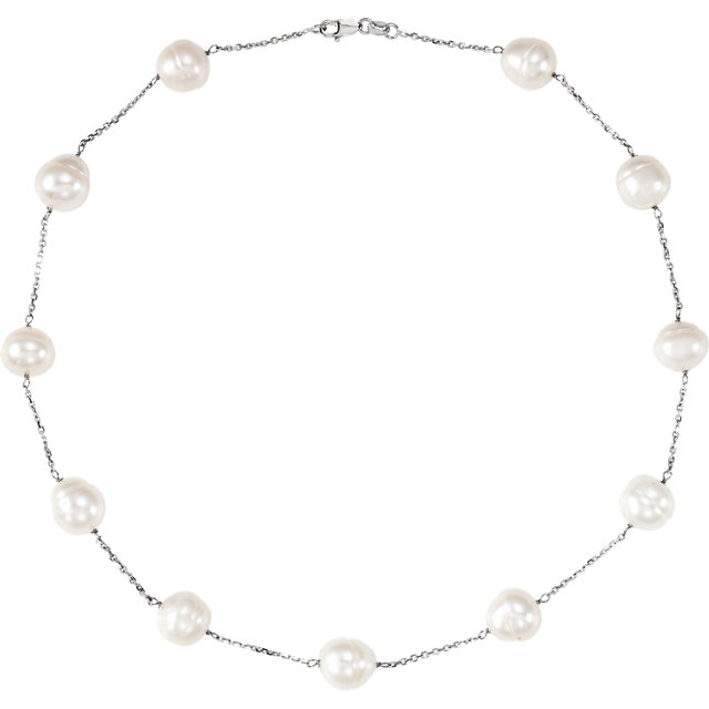 14K White Freshwater Cultured Pearl 16