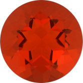 Round Genuine Mexican Fire Opal (Black Box)
