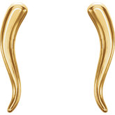 Italian Horn Earrings