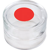 Glass Container with Red Marked Lid