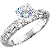 4-Prong Scroll Solitaire Engagement Ring