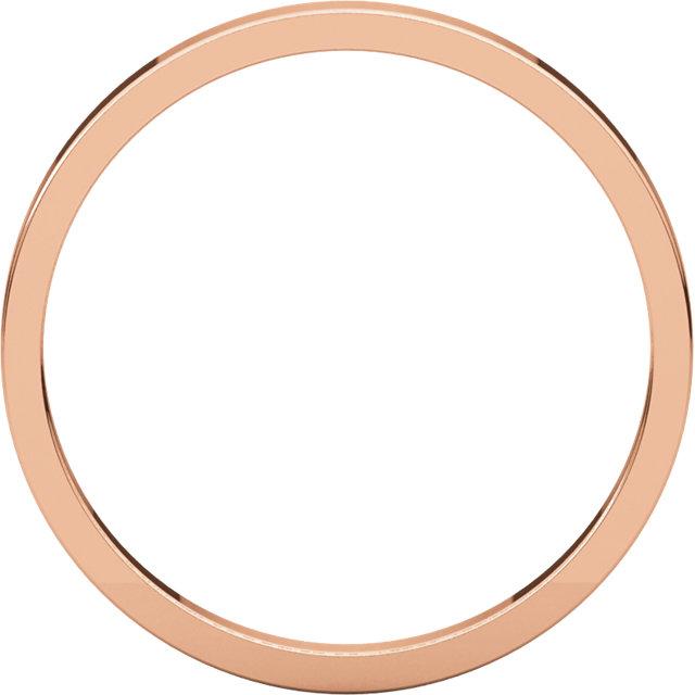 10K Rose 2 mm Flat Band