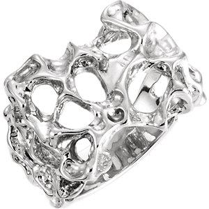 Fashion Rings , 14K White 18mm Men's Nugget Ring