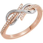 Accented Infinity-Style Ring