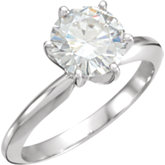 Charles & Colvard Moissanite® 6-Prong Solitaire Engagement Ring
