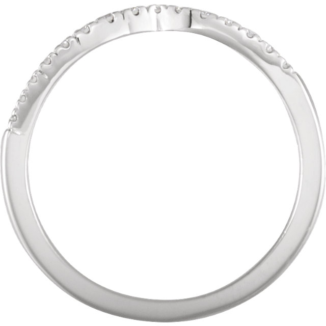 14K White 1/10 CTW Diamond Band for 5.2mm Round Ring