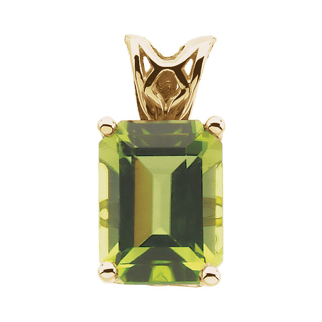 Peridot Scroll Setting® Pendant