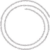 2.5mm Sterling Silver Rope Chain